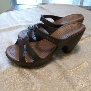 Crocs Brown Heels